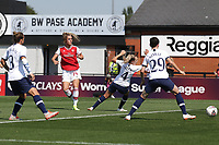 Jill Roord of Arsenal scores the first goal for her team during Arsenal Women vs Tottenham Hotspur Women, Friendly Match Football at Meadow Park on 25th August 2019