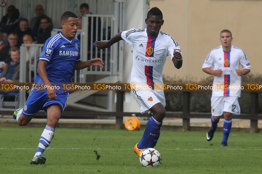 Breel-Donald Embolo of FC Basel in action - Chelsea Under-19 vs FC Basel Under-19 - UEFA Youth League Football at Chelsea FC Cobham Training Ground, Surrey - 18/09/13 - MANDATORY CREDIT: Paul Dennis/TGSPHOTO - Self billing applies where appropriate - 0845 094 6026 - contact@tgsphoto.co.uk - NO UNPAID USE