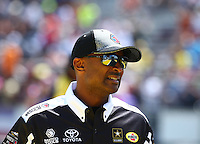 Mar 20, 2016; Gainesville, FL, USA; NHRA top fuel driver Antron Brown during the Gatornationals at Auto Plus Raceway at Gainesville. Mandatory Credit: Mark J. Rebilas-USA TODAY Sports