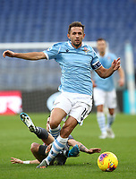 Football, Serie A: S.S. Lazio - Udinese Olympic stadium, Rome, December 1, 2019. <br /> Lazio's captain Senad Lulic in action during the Italian Serie A football match between S.S. Lazio and Udinese at Rome's Olympic stadium, Rome on December 1, 2019.<br /> UPDATE IMAGES PRESS/Isabella Bonotto