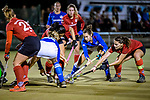 Ruesselsheim, Germany, October 11: During the 1. Hockey Bundesliga women match between Ruesselsheimer RK and Mannheimer HC on October 11, 2019 at Ruesselsheimer RK in Ruesselsheim, Germany. Final score 1-3. (Copyright Dirk Markgraf / 265-images.com) *** Martina Cavallero #32 of Mannheimer HC