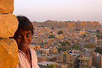 "Jaisalmer, the ""Golden City,"" is located on the westernmost frontier of India in the state of Rajasthan. Close to the Pakistan border, the city is known for its proximity to the Thar Desert.<br />