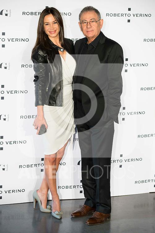 "Cecilia Gomez and Roberto Verino during the presentation of the new Spring-Summer collection ""Un Balcon al Mar"" of Roberto Verino at Platea in Madrid. March 16, 2016. (ALTERPHOTOS/Borja B.Hojas)"