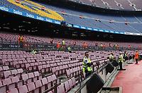 BARCELONA, 02-10-2017. LaLiga 2017/ 2018, date 7. FC Barcelona 3-0 UD Las Palmas. Camp Nou stadium. <br /> Lo stadio Nou Camp deserto. La decisione e' stata presa dal Barcellona in occasione del referendum sull'indipendenza della Catalogna . Il governo centrale spagnolo ha effettuato operazioni di repressione per impedirne lo svolgimento <br /> Foto Sergio Ruiz/Pro Shots/Insidefoto