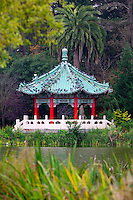 A Pagoda structure at Stow Lake, Golden Gate Park, San Francisco, California