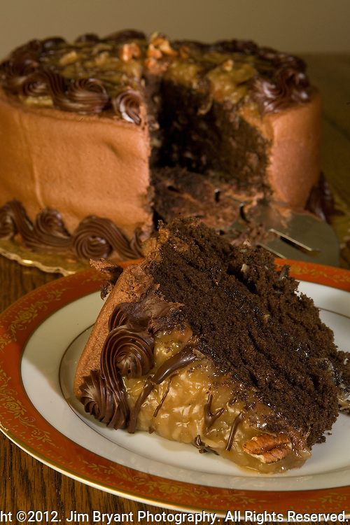 German Chocolate Cake. ©2012. Jim Bryant Photo. All Rights Reserved.