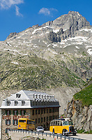 Switzerland, Canton Valais, Hotel Belvedere at Furka Pass Road