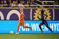 Orlando, FL - Thursday June 23, 2016: Denise O'Sullivan during a regular season National Women's Soccer League (NWSL) match between the Orlando Pride and the Houston Dash at Camping World Stadium.