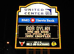 Bob Dylan Theatre Marquee - performance at the United Center in Chicago 10/26/2012 in New York.
