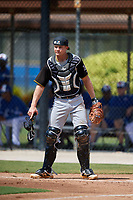 Pittsburgh Pirates catcher Arden Pabst (75) during a Florida Instructional League game against the Toronto Blue Jays on September 20, 2018 at the Englebert Complex in Dunedin, Florida.  (Mike Janes/Four Seam Images)