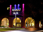 Hyatt Entrance at Night in Schaumburg