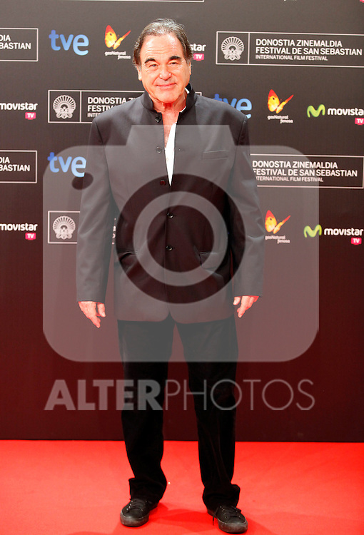 Director Oliver Stone posses in the photocall of the 61 San Sebastian Film Festival, in San Sebastian, Spain. September 20, 2013. (ALTERPHOTOS/Victor Blanco)