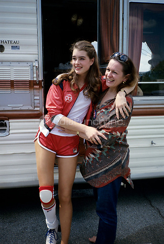 Brooke Shields and mom, Teri.<br /> 1979.<br /> &copy; Nancy Barr  / MediaPunch