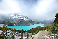 Clearing storm, Peyto Lake, Banff National Park