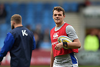 Zach Mercer of Bath Rugby looks on during the pre-match warm-up. Aviva Premiership match, between Sale Sharks and Bath Rugby on May 6, 2017 at the AJ Bell Stadium in Manchester, England. Photo by: Patrick Khachfe / Onside Images