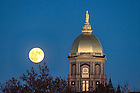 November 13, 2016; The Golden Dome and supermoon. (Photo by Barbara Johnston/University of Notre Dame)