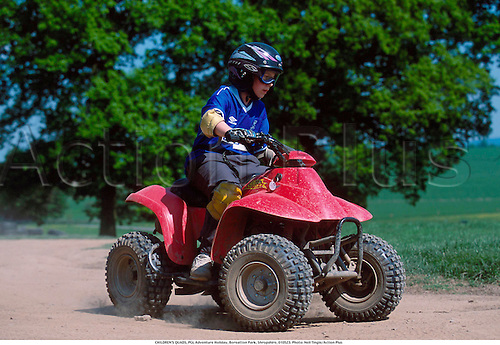 CHILDREN'S QUADS, PGL Adventure Holiday, Boreatton Park, Shropshire, 010523. Photo: Neil Tingle/Action Plus...2001.child.children.kids.boy.boys.youth.youths.teenager.teenagers.Youngster.Youngsters.childrens sport.children's sport