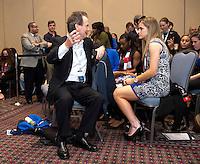 Anson Dorrance, Kealia Ohai. The NWSL draft was held at the Pennsylvania Convention Center in Philadelphia, PA, on January 17, 2014.