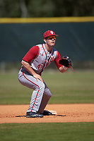 Indiana Hoosiers second baseman Tony Butler (4) during practice before a game against the Illinois State Redbirds on March 4, 2016 at North Charlotte Regional Park in Port Charlotte, Florida.  Indiana defeated Illinois State 14-1.  (Mike Janes/Four Seam Images)