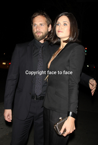 NEW YORK, NY - OCTOBER 28: Josh Lucas and Jessica Ciencin Henriquez at the Premiere of Ketchup Entertainment's 'BIG SUR' at the Sunshine Landmark Theater in New York. October 28, 2013. <br />