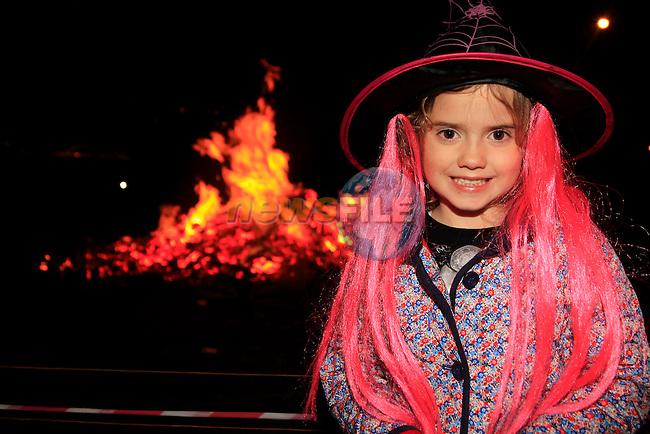 Lauren Collinsat the Halloween Bon Fire in Julianstown Garden<br /> Picture: www.newsfile.ie
