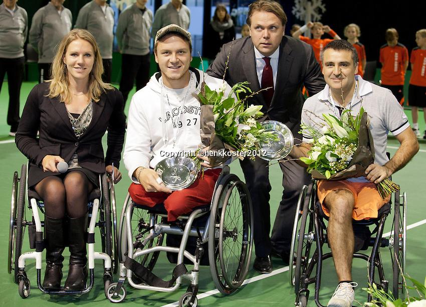 19-02-12, Netherlands,Tennis, Rotterdam, ABNAMRO WTT, Stephane Houdet met Nicolas Peifer
