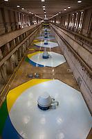 Casa de força, geração de energia. UHE Tucuruí.<br /> Tucuruí, Pará, Brasil.<br /> Foto Paulo Santos.<br /> 27/08/2013