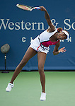 Venus Williams (USA) goes three sets  at the Western and Southern Financial Group Masters Series in Cincinnati on August 17, 2012