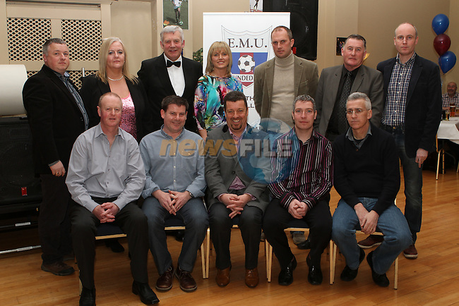 Minister for State Fergus O'Dowd and Richard Fahey from the FAI, with the Committee at the Fundraiser for East Meath United..(Photo credit should read Jenny Matthews/NEWSFILE)...