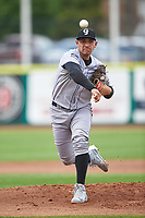 Grand Junction Rockies starting pitcher Anderson Amarista (32) during a Pioneer League game against the Billings Mustangs at Dehler Park on August 14, 2019 in Billings, Montana. Grand Junction defeated Billings 8-5. (Zachary Lucy/Four Seam Images)
