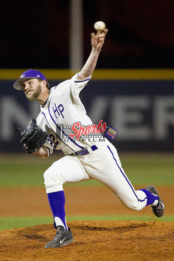High Point Panthers relief pitcher Will Resnik (22) in action against the Coastal Carolina Chanticleers at Willard Stadium on March 15, 2014 in High Point, North Carolina.  (Brian Westerholt/Sports On Film)