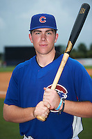 TJ Collett (34) of Terre Haute North Vigo High School in Terre Haute, Indiana playing for the Chicago Cubs scout team during the East Coast Pro Showcase on July 30, 2015 at George M. Steinbrenner Field in Tampa, Florida.  (Mike Janes/Four Seam Images)