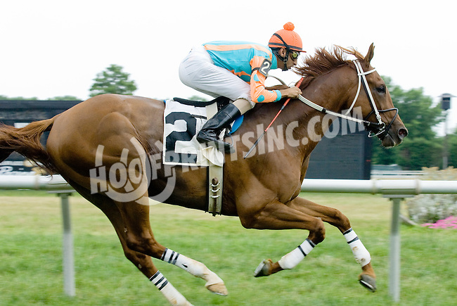 Follow the Leader winning at Delaware Park on 7/9/12