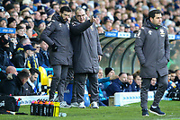 Leeds United manager Marcelo Bielsa watches on with first team coach Carlos Corberan<br /> <br /> Photographer Alex Dodd/CameraSport<br /> <br /> The EFL Sky Bet Championship - Leeds United v Middlesbrough - Saturday 30th November 2019 - Elland Road - Leeds<br /> <br /> World Copyright © 2019 CameraSport. All rights reserved. 43 Linden Ave. Countesthorpe. Leicester. England. LE8 5PG - Tel: +44 (0) 116 277 4147 - admin@camerasport.com - www.camerasport.com