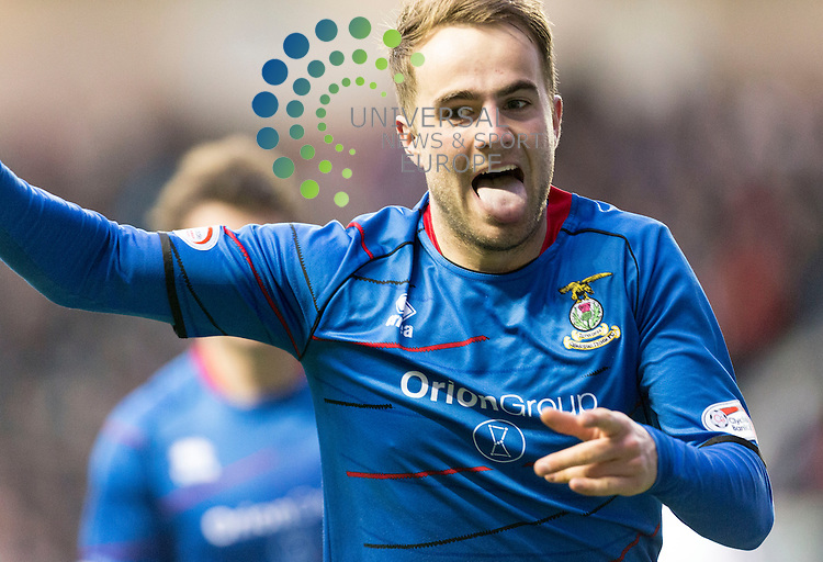 Inverness CT v Hearts, League Cup Semi Final ..Andrew Shinnie celebrates goal during the SCOTTISH COMMUNITIES League Cup Semi Final between Inverness CT and Hearts at Easter Road Stadium on 26 January 2013...Picture: Alan Rennie/Universal News & Sport.
