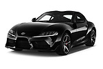 2019 Toyota GR-Supra Sport 2 Door Coupe angular front stock photos of front three quarter view