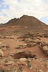 Arava, remains of the workshop at the copper production camp from the Egyptian period in Timna Valley, 14th-12th centuries BC