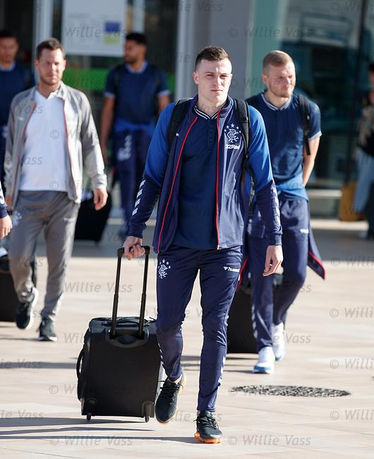 22.06.2019 Rangers arrive in Portugal: George Edmundson