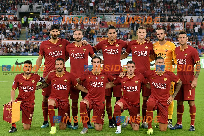 AS Roma team photo line up <br /> Roma 25-9-2019 Stadio Olimpico <br /> Football Serie A 2019/2020 <br /> AS Roma - Atalanta Bergamasca Calcio <br /> Foto Andrea Staccioli / Insidefoto