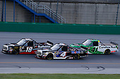 #18: Noah Gragson, Kyle Busch Motorsports, Toyota Tundra Safelite AutoGlass, #4: Todd Gilliland, Kyle Busch Motorsports, Toyota Tundra Mobil 1 and #41: Ben Rhodes, ThorSport Racing, Ford F-150 Alpha Energy Solutions