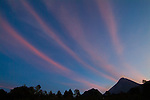 Luminous clouds appear to emanate from Mount Merapi, near Yogyakarta, central Java, by dawn's first light on 12 May 2006. Local mystics traditionally heed warnings that include the movement of animals and visions of strange lights from the volcano.