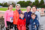 Suzanne Neilan Tralee, Joanne Buckley, Sheila Hartnett, Cian, Michael and Maria O'Connor all Abbeyfeale  at the Run Rudolph Run in Castleisland on Sunday