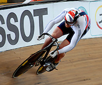 CALI – COLOMBIA – 01-03-2014: Matthew Crampton de Gran Bretaña en la prueba Embalaje Hombres en el Velodromo Alcides Nieto Patiño, sede del Campeonato Mundial UCI de Ciclismo Pista 2014. / Matthew Crampton of Great Britain during the test of Men´s Sprint in Alcides Nieto Patiño Velodrome, home of the 2014 UCI Track Cycling World Championships. Photos: VizzorImage / Luis Ramirez / Staff.
