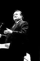 September 11,1985 File Photo - Jean Garon<br /> take part in a debate between all candidates in the Parti Quebecois leadership race which was eventually won by Pierre-Marc Johnson
