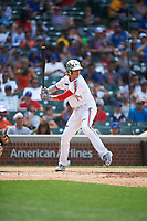 Conner Uselton (14) of Southmoore High School in Oklahoma City, Oklahoma during the Under Armour All-American Game presented by Baseball Factory on July 23, 2016 at Wrigley Field in Chicago, Illinois.  (Mike Janes/Four Seam Images)