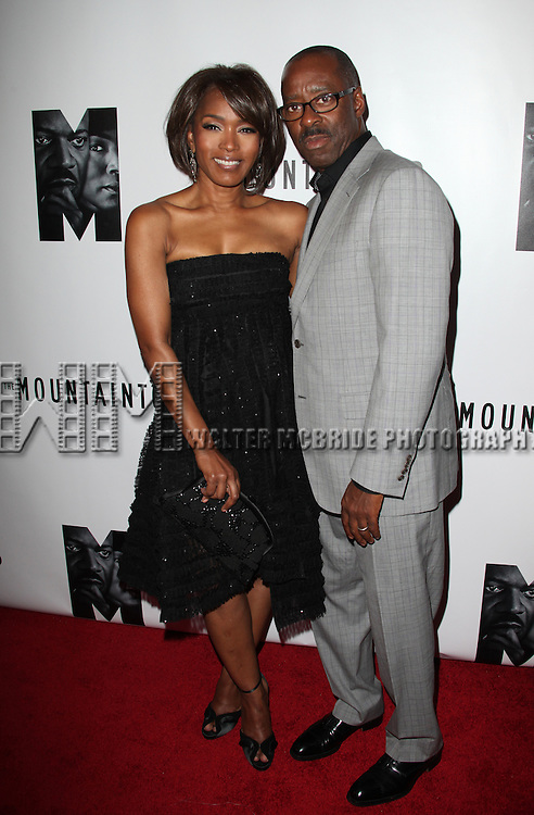 Angela Bassett & Courtney B. Vance.attending the Opening Night Performance After Party for 'The Mountaintop' at eSpace in New York City.
