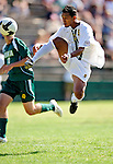 1 September 2009: University of Vermont Catamount forward/midfielder Juan Peralta, a Junior from Queens, NY, in action against the Siena College Saints at Centennial Field in Burlington, Vermont. The Saints edged out the Catamounts 1-0. Mandatory Photo Credit: Ed Wolfstein Photo