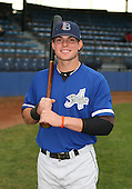 July 14th, 2007:  Ryan Adams of the Aberdeen Ironbirds, Class-A Short-Season affiliate of the Baltimore Orioles, poses before a game vs the Jamestown Jammers in New York-Penn League action.  Photo Copyright Mike Janes Photography 2007.