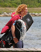ORLANDO, FL - April 29:  Noah Flegel USA arrives to compete. Scenes from  WWA Nautique Wake Series Open 2017 at  the Orlando Watersports Complex on April 29, 2017 in Orlando, Florida. (Photo by Liz Lamont/Eclipse Sportswire/Getty Images)