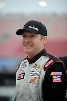 Oct. 30, 2009; Talladega, AL, USA; NASCAR Camping World Truck Series driver Ryan Hackett during qualifying for the Mountain Dew 250 at the Talladega Superspeedway. Mandatory Credit: Mark J. Rebilas-